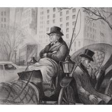 Don Freeman, (American, 1908-1978), The Passing Show, 1941, lithograph, 9.25