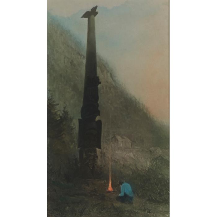 Sydney Laurence, (American, 1865-1940), The Offering, Alaska, hand tinted color photograph, 13.5
