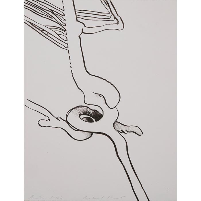 Richard Hunt, (American, b. 1935), Untitled, lithograph, 12.75