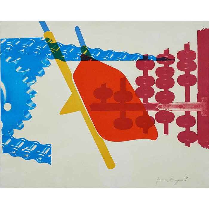 James Rosenquist, (American, b. 1933), Whipped Butter for Eugene Ruchin, 1965, color lithograph, 24