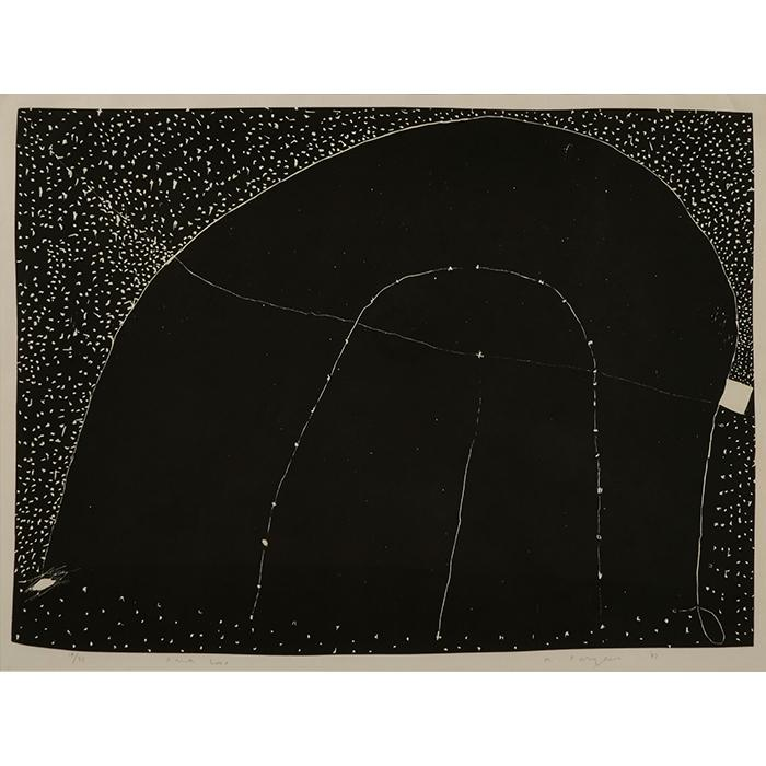 Martin Puryear, (American, b. 1941), Dark Loop, 1982, woodcut, 20.5