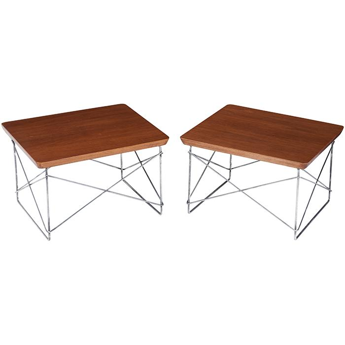Charles Eames (1907–1978) & Ray Eames (1912–1988) for Herman Miller LTR tables, pair 15.5