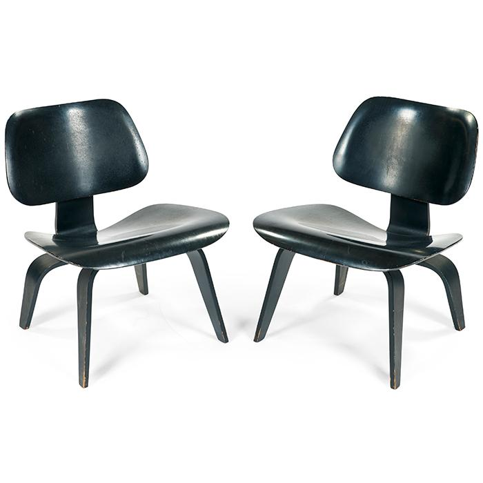 Charles Eames (1907-1978) & Ray Eames (1912-1988) for Evans Products LCW chairs, pair 22