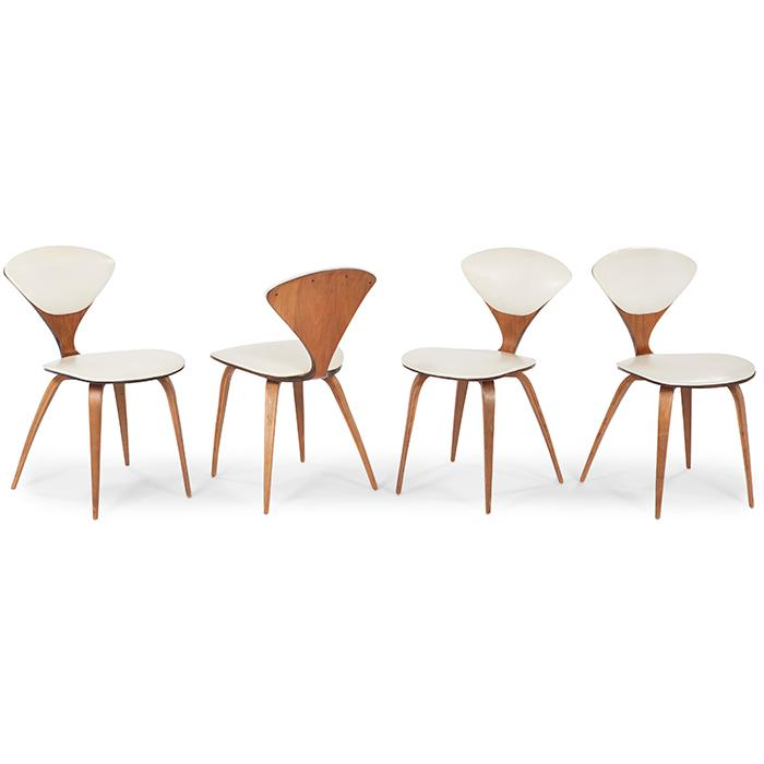 Norman Cherner (1920-1987) for Plycraft chairs, four 17