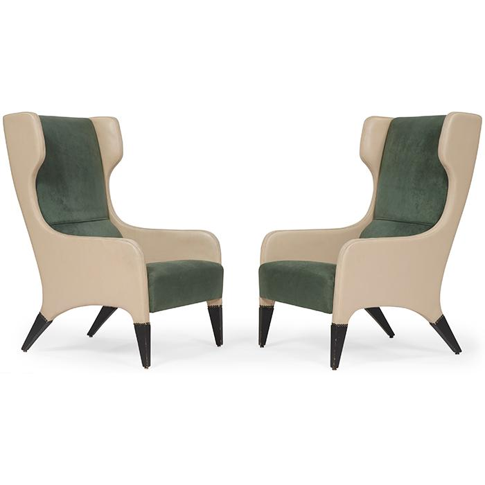 Gio Ponti (1891-1979) for Cassina Hotel Parco dei Principi lounge chairs, pair 25