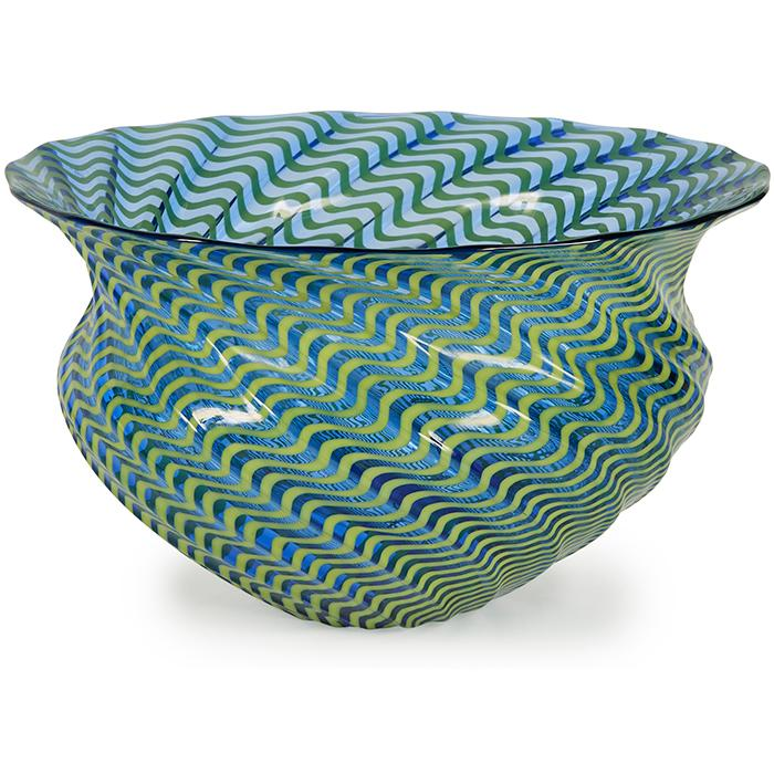 Lino Tagliapietra (b. 1934) and Marina Angelin (Italian, 20th c.) bowl 9.5