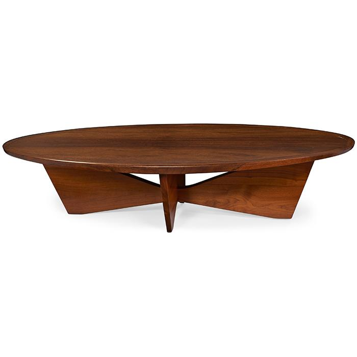 George Nakashima (1905-1990) for Widdicomb coffee table, model 201-L 59.5