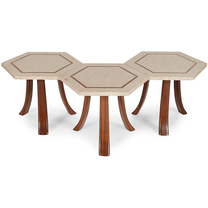 Harvey Probber (1922-2003) for Harvey Probber, Inc. tables, three 22