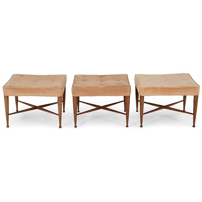 Edward Wormley (1907-1995) for Dunbar benches, three, model 5002 23