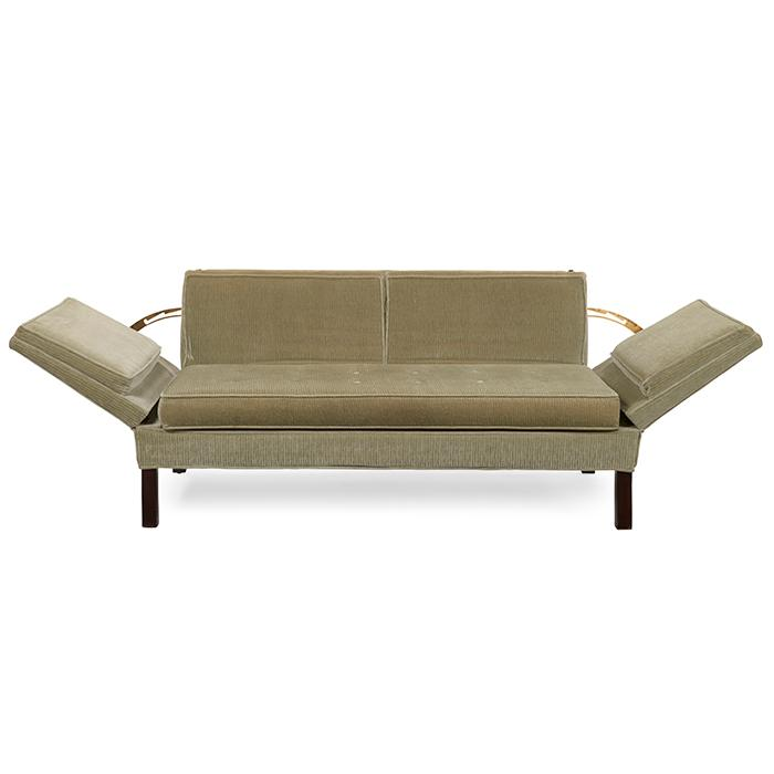 Edward Wormley (1907-1995) for Dunbar Drop-Arm settee, similar to model 6033 61.5