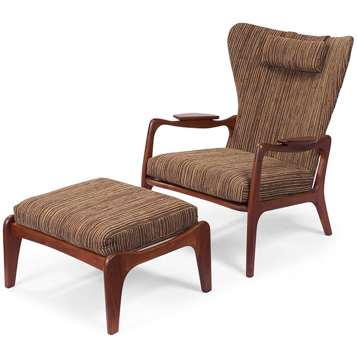 Adrian Pearsall (1925-2011) for Craft Associates lounge chair and ottoman 29