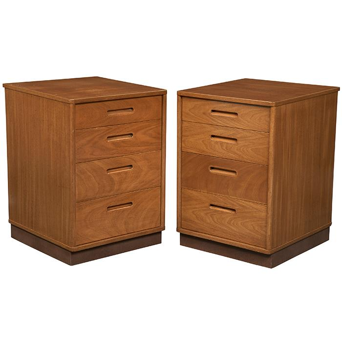 Edward Wormley (1907-1995) for Dunbar night stands, pair, model 4185 18