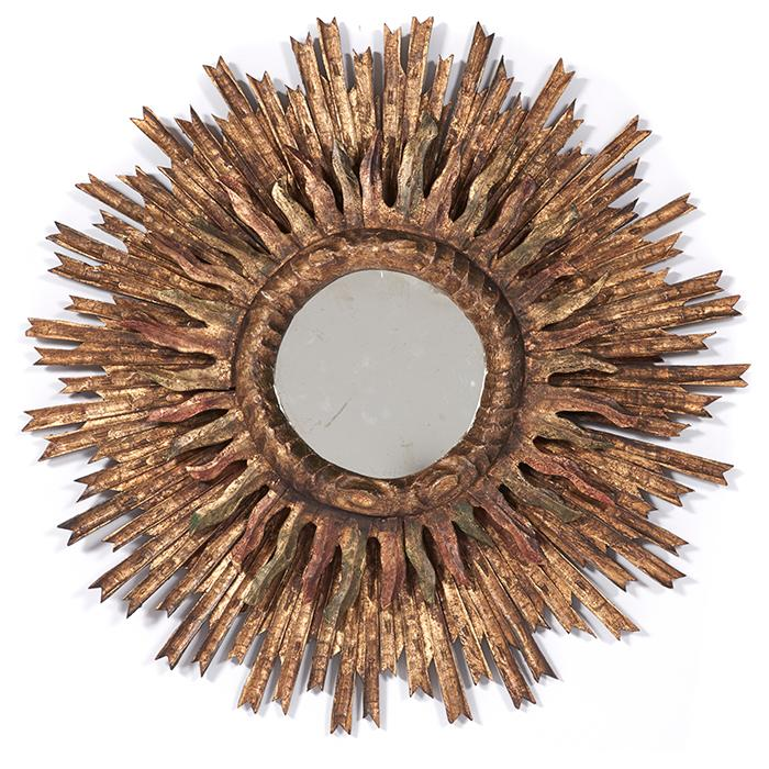 French Starburst wall mirror 32
