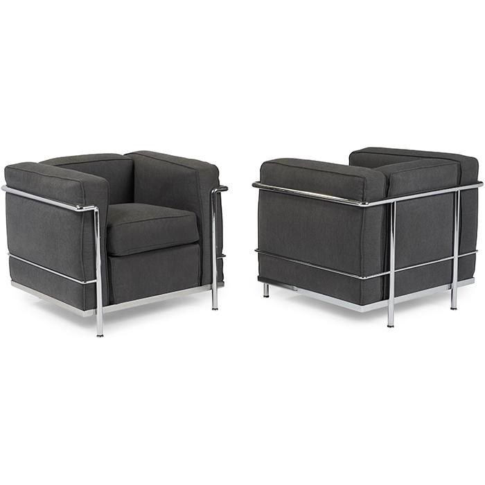 Le Corbusier (1887-1965) for Cassina LC2 Petite Modele lounge chairs, pair 30