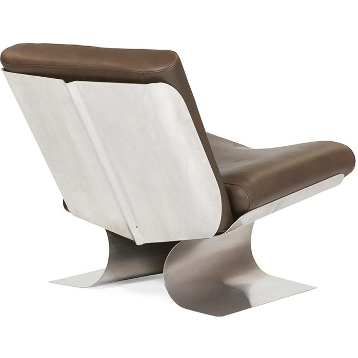 Xavier Feal (French, 20th c.) for Inox Industrie lounge chair 26