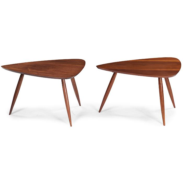 Phillip Lloyd Powell (1919-2008) occasional tables, pair 30.5