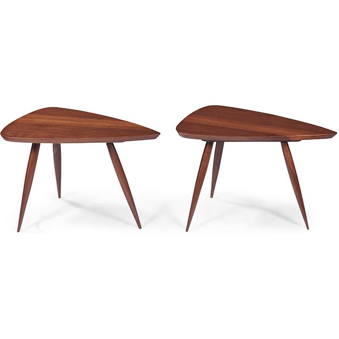 Phillip Lloyd Powell (1919-2008) small occasional tables, pair 23.5