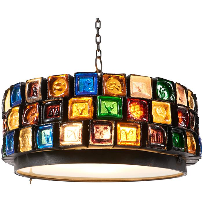 Erik Hoglund (1932-1998) for Boda Zodiac chandelier fixture: 23.5