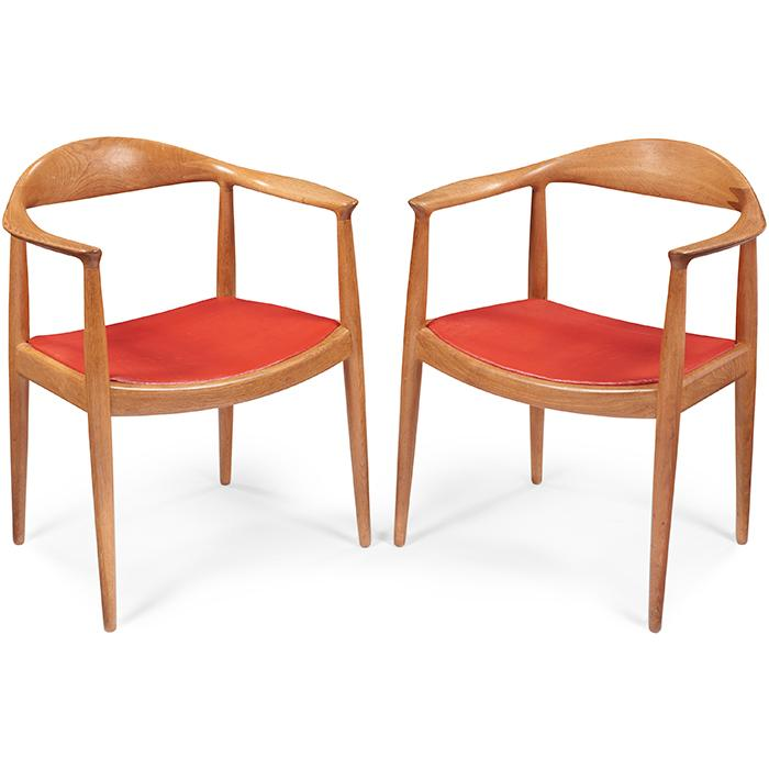 Hans J. Wegner (1914-2007) for Johannes Hansen The Chair, pair 24.75