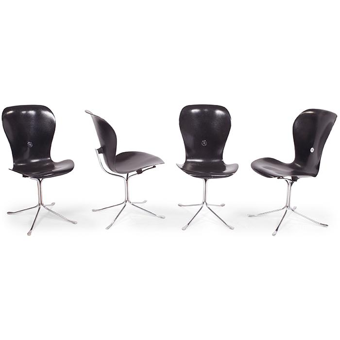 Gideon Kramer (1917-2012) for American Desk Corporation Ion chairs, four 18.25