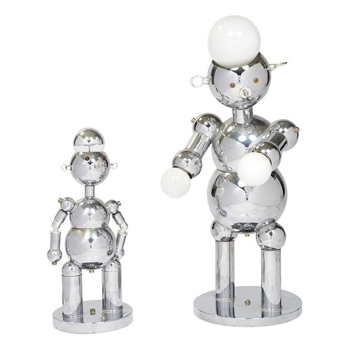 Torino Robot lamps, two small: 8