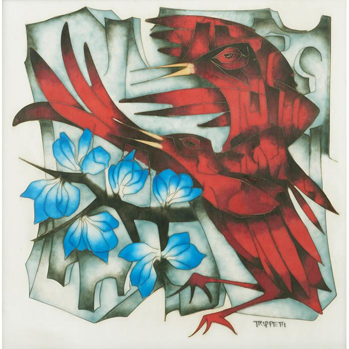 Joseph Trippetti (b. 1923) Red Birds 12