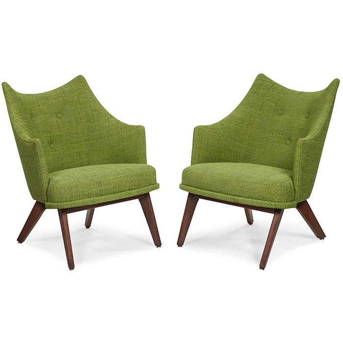 Adrian Pearsall (1925-2011) for Craft Associates lounge chairs, pair 24