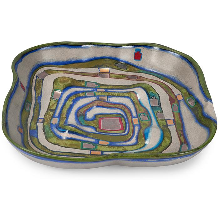Friedensreich Hundertwasser (1928-2000) for Rosenthal Spiralental (Spiral Valley) bowl, model 857 14