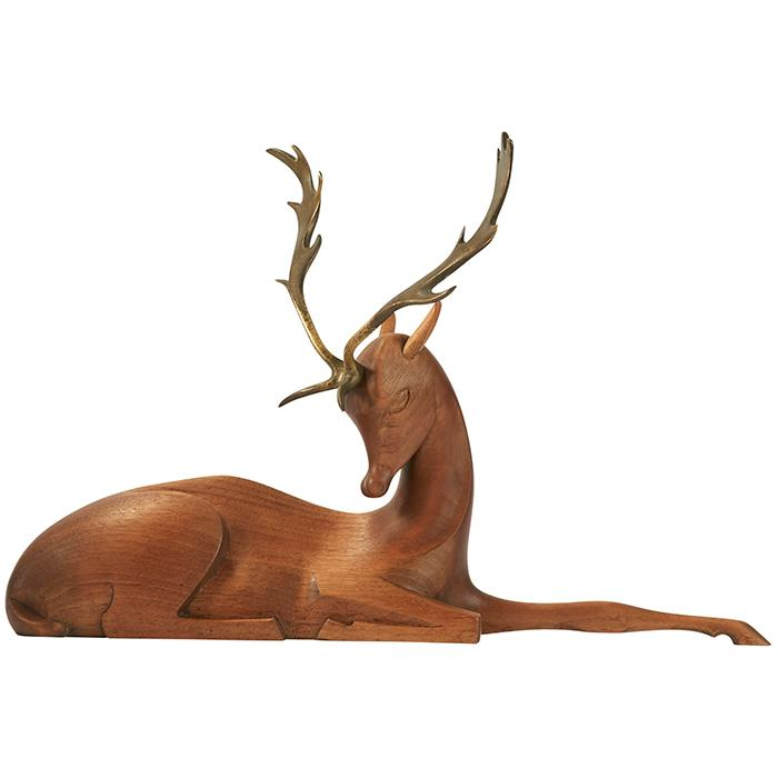 Werkstatte Hagenauer Fallow deer buck sculpture 16