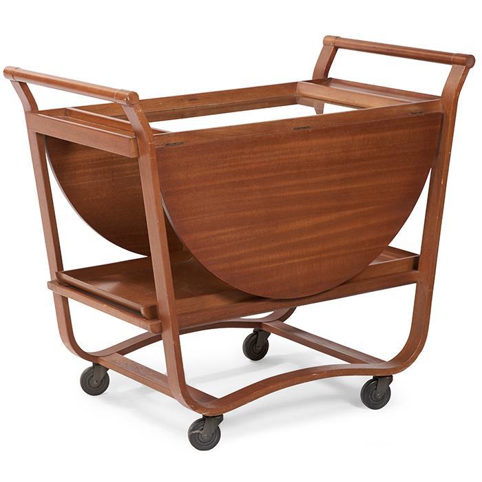 Edward Wormley (1907-1995) for Dunbar drop-leaf bar / tea cart, model 4487 38.5