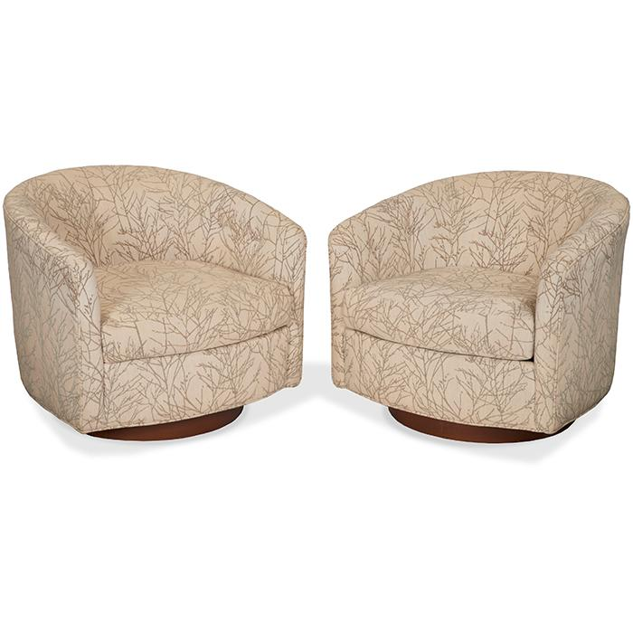 Selig of Monroe Barrel chair, pair 29
