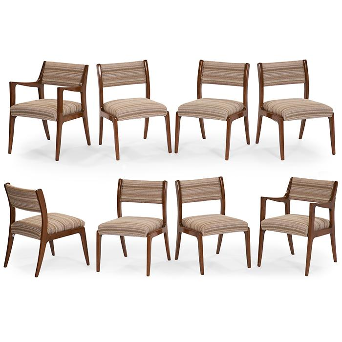 Harvey Probber for Harvey Probber, Inc. dining chairs, set of 8 21.25
