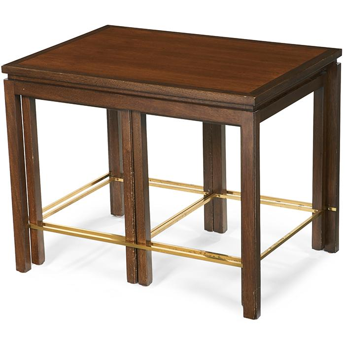 Edward Wormley (1907-1995) for Dunbar nesting tables, three large: 28