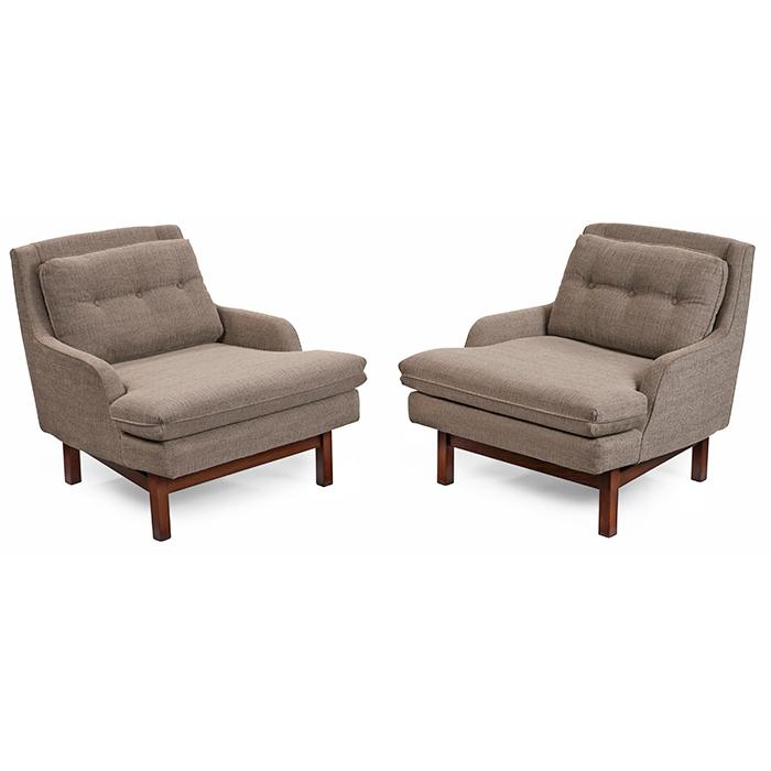 Harvey Probber (1922-2003), Attribution lounge chairs, pair 30