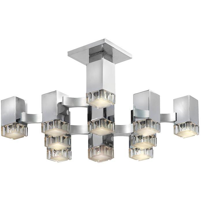 Gaetano Sciolari (1927-1994) for Lightolier Cubic 12-light ceiling fixture 18