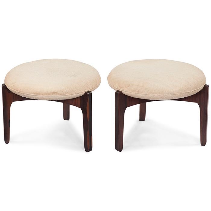 Sven Ellekaer for Christian Linneberg Mobelfabrik stools, pair 20