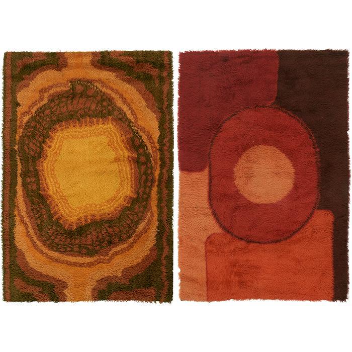 Scandinavian rugs, two orange: 48