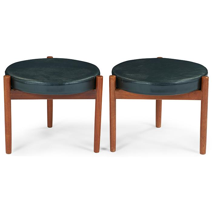 Svend Frandsen for Spottrup Mobelfabrik stools, pair 18