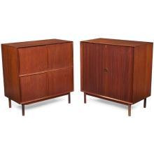 Peter Hvidt (1916-1986) and Orla Molgaard-Nielsen (1907-1993) for John Stuart, Inc. cabinets, pair each: 35.5