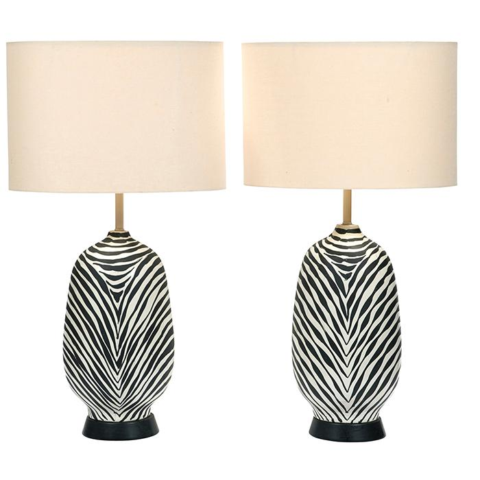 Italian table lamps, pair 18.5