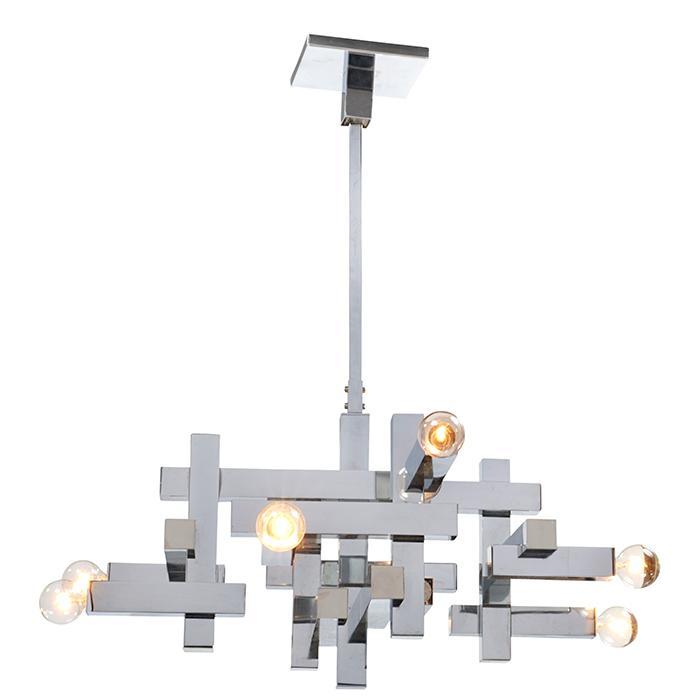 Gaetano Sciolari (1927-1994) for Lightolier hanging light fixture as shown: 24