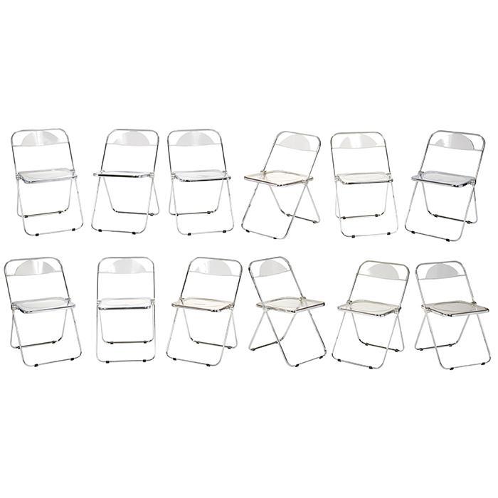 Giancarlo Piretti (b. 1940) for Castelli Furniture Plia chairs, set of 12 18.5