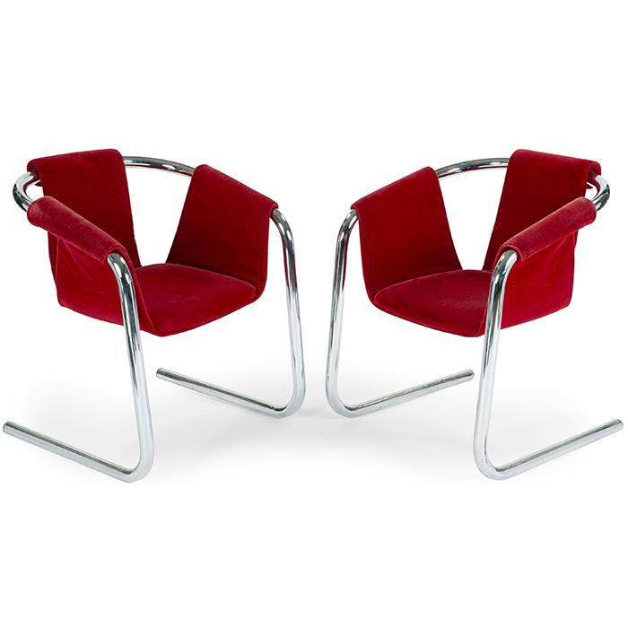 Geoffrey Harcourt (b. 1935) for Arkana Vecta sling chairs, pair 27