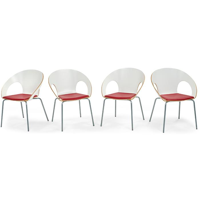 Wolfgang C.R. Mezger for Davis Furniture Kirkos stacking chairs, four 25