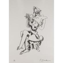 Ossip Zadkine, (French/Russian, 1890-1967), Guitar Player, lithograph, 22