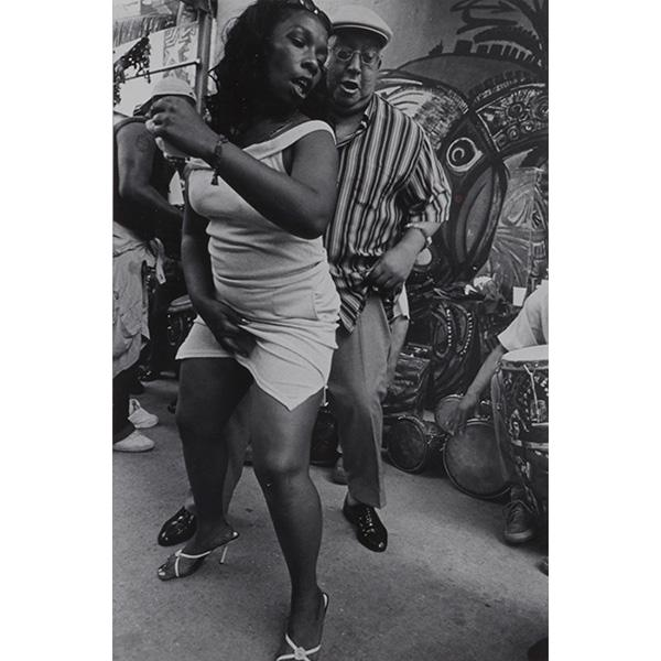 Frank Stewart, (American, b. 1949), Rumba Street, Cuba, 2002, silver print, 12.5