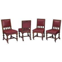 English Arts & Crafts side chairs, set of four 19