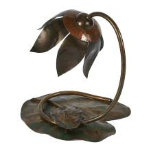 In the Manner of Elizabeth Eaton Burton (1869-1937) Water Lily table lamp 8.75