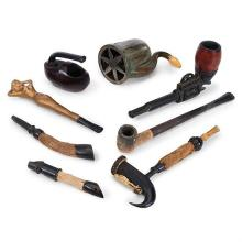 Tobacciana pipes, eight largest: 3/4