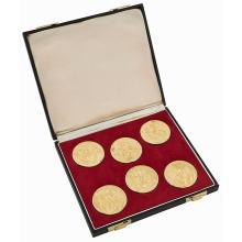 Erotic Josefine Mutzenbacher medallions, cased set of six each: 2